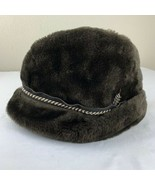Vintage Dobbs Fifth Ave Mens Fedora Hat Men's Size Medium Brown Faux Fur... - $39.99