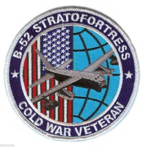 "B-52 STRATOFORTRESS AIR FORCE  COLD WAR VETERAN 4"" EMBROIDERED  PATCH - $23.74"