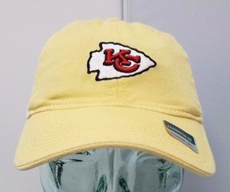 2248ab104d5 Kansas City Chiefs NFL Women  39 s Yellow White Slouch Mesh Adjustable  Reebo.