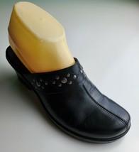 Clarks Leather Black  Clogs Slides Size 7.5 M - $24.74