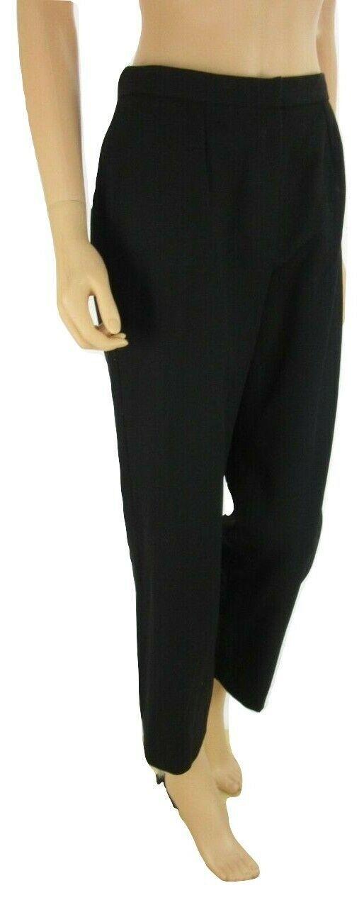RALPH LAUREN Black Wool Blend Wear to Work Dress Pants 6 Petite
