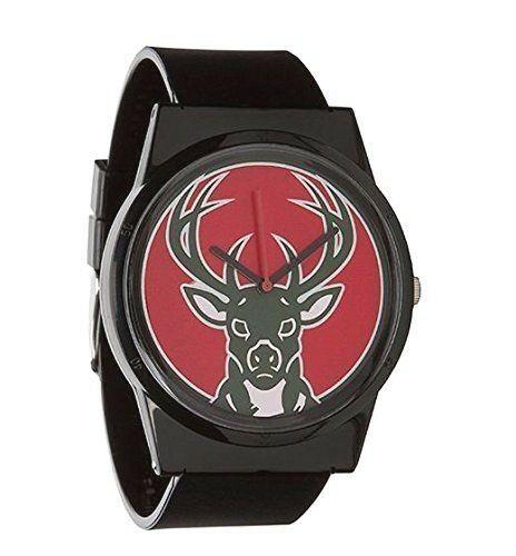 Flud Pantone NBA Schwarz Milwaukee Bucks Uhr Basketball Offiziell Genehmigung