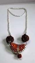 Handmade Silver Chain Pandent With Seven And Eight Mukhi Rudraksh - $8.53