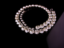 Vintage Eisenberg  choker - wedding necklace jewelry - Vintage Rhineston... - $125.00