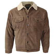 Men's Premium Classic Button Up Fur Lined Corduroy Sherpa Trucker Jacket image 11