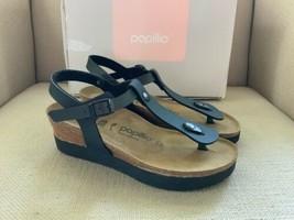 Birkenstock Papillio Ashley Black/Purple Wedge Platform Slingback Sandals EUR 38 - $79.46