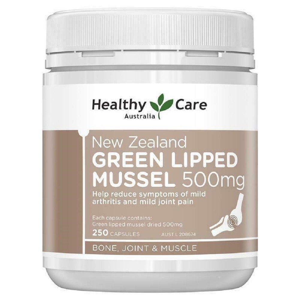 Primary image for Healthy Care New Zealand Green Lipped Mussel 250 Capsules