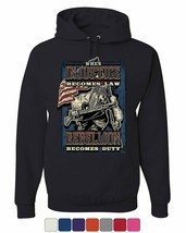 Injustice Becomes Law Rebellion Becomes Duty Hoodie Militia 2A Sweatshirt - $21.65+