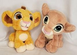 "Disney Parks The Lion King Baby Simba & Nala Plush 9"" Lot of 2 - $28.71"