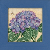 Hydrangea 2017 Spring Series  Buttons and Beads cross stitch Mill Hill - $12.60