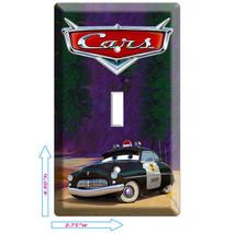 Disney Cars 3 Sheriff Police Single Light Switch Cover Boys Room Wall Art Decor - $8.09