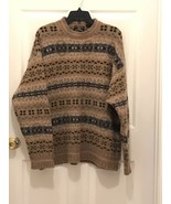Men's American Eagle Outfitters Tan Blue Crew Neck Long Sleeve Sweater S... - $16.83