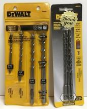 (New) DeWalt DWA5103 Masonry Drill Bits; DW5204 4 pc Hammer Drill Bit Set - $25.73