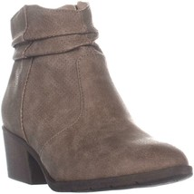 White Mountain Uptown Block Heel Ankle Boots, Natural, 6 US - $30.52