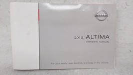 2012 Nissan Altima Owners Manual 53133 - $26.05