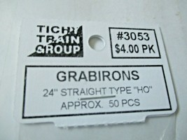 """Tichy #293-3053 Grabirons  24"""" Straight Type Approx 50 Pieces HO Scale image 2"""