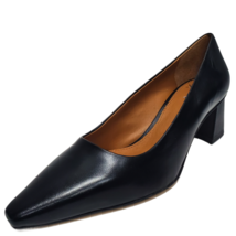 Franco Sarto Women's Regal Nappa Leather Pumps Black 8M - $84.99