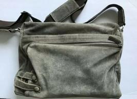 Black Rivet Briefcase Attache Laptop Computer bag leather suede Green - $89.05