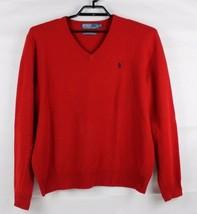 Polo da Ralph Lauren Uomo Maglione Rosso Lana D'Agnello Italiana Yard Ta... - $23.21