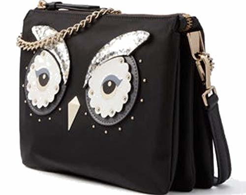 Kate Spade Star Bright Owl Madelyne Crossbody Handbag Black