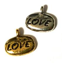 LOVE (WORD) FINE PEWTER PENDANT CHARM image 1