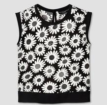 Victoria Beckham for Target Girls Black Mini Daisy Printed Tank top Size... - $18.99