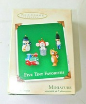Hallmark - Keepsake 2002 QXM4566 - Five Tiny Favorites - Set of 5 Miniat... - $4.94