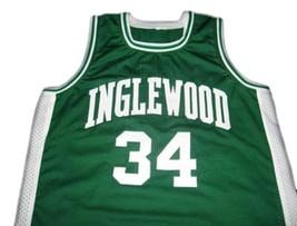Paul Pierce #34 Inglewood High School Men Basketball Jersey Green Any Size image 1