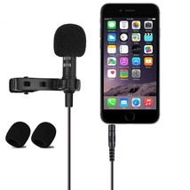 Phone Lavalier Microphone Dictaphone Stereo Sound Quality Clip-On Journa... - $14.37