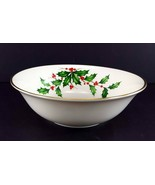 "LENOX China Holiday Dimension Party Bowl Serving 9-3/8"", 4-5/8"" Base Din... - $29.69"