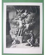VENUS Playing Galatea & Pygmalion Love Story - Mythology Antique Print - $18.90