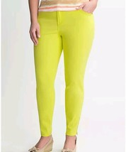 LANE BRYANT Womens 28 Plus Siz Lime green Genius Fit Ankle Zip stretch p... - $14.81