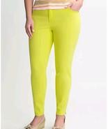 LANE BRYANT Womens 28 Plus Siz Lime green Genius Fit Ankle Zip stretch p... - $14.81
