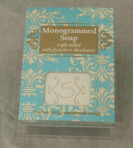S Monogrammed Soap Triple Milled Glycerin Shea Butter