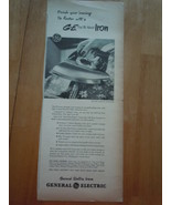 Vintage G-E Dial The Fabric Iron General Electric Print Magazine Adverti... - $6.99