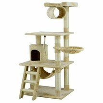 "Cat Tree Condo House Kitty Scratching Post Bed Cat Toy 63"" Tall Indoors ... - £59.37 GBP+"