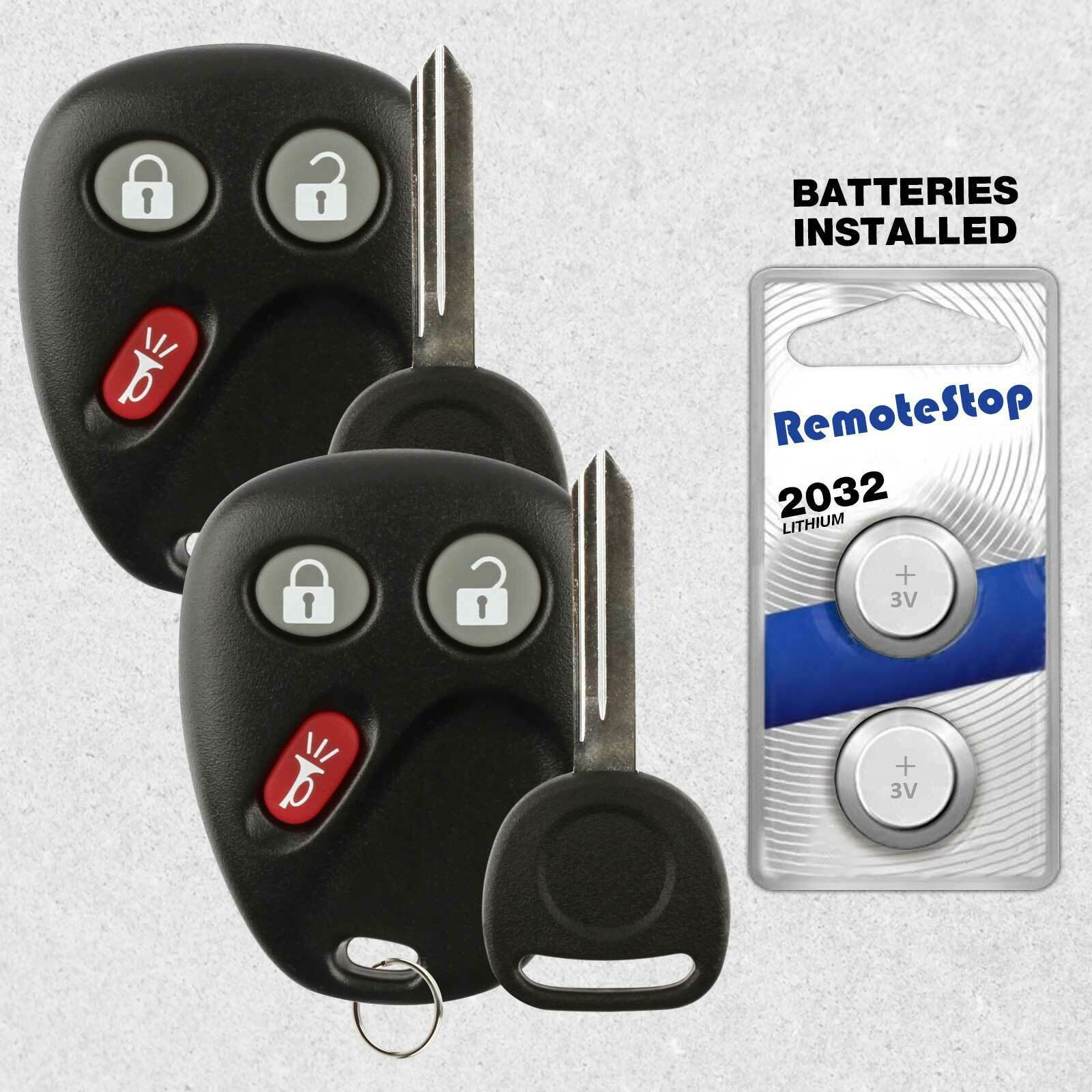 Primary image for 2 For 03 2004 2005 2006 2007 Chevrolet Silverado 1500 2500 3500 Remote Fob + Key