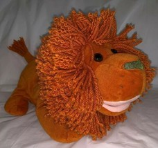 "Gymboree 2003 Plush Orange Lion Full Body Hand Puppet 14"" Yarn Mane EUC - $17.99"