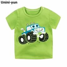 Fashion Cotton Spaceship Boys Girls T-Shirts Children Kids Cartoon T-shi... - $5.70