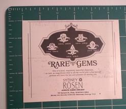 1970's Sydney Rosen Rare Gems Advertisement Philadelphia - $15.00