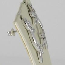 Ohrringe aus Silber 925 Rhodiniert A Hörmuschel Hard mit Zirkonia Kubische Weiß image 2