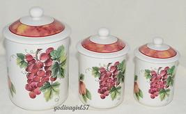 Royal Doulton Vintage Grape * CANISTER SET * Everyday, Fruit Design, 2nd... - $48.99