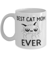Funny Cat 11oz Coffee Mug - Best Cat Mom Ever - Unique Gift For Men and ... - £14.24 GBP