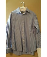 Robert Graham R&G Blue Pink Striped Shirt L/S  ... - $16.99