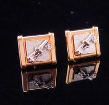 Vintage Spade Key Cufflinks Skeleton Fleur de Lis Crown Medieval Rennais... - $95.00