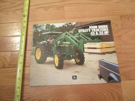 John Deere Utility tractors 45 & 55 HP Vintage Dealer sales brochure 15 - $15.99