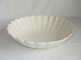 California Pottery Vtg Large Serving Bowl Round Centerpiece Ribbed Shell... - $34.64