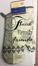 "Printed 13"" Jumbo Oven Mitt, FAITH FAMILY FRIENDS, silver back - $7.91"