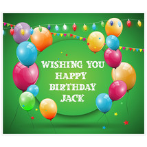 Green Balloons Personalized Birthday Banner - $38.12