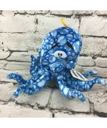 Ideal Toys Direct Octopus Plush Blue Bubble Spotted Hanging Carnival Pri... - $11.88